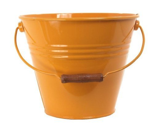 Houston International 5202E SAFF 11.5-Inch Steel Fun Pail, Saffron