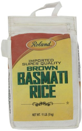 Roland Foods Basmati Rice, Brown, 11 Pound by Roland (Roland Basmati Rice compare prices)