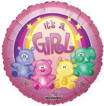 18 Inch Zoo Baby Girl Balloon