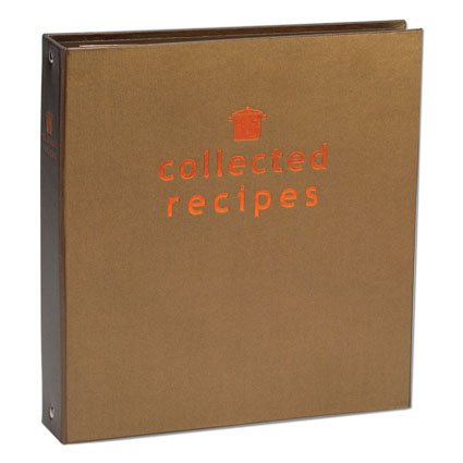 Create Your Own Collected Recipes Cookbook - Brown & Copper