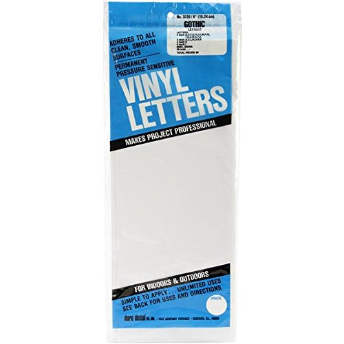 duro permanent adhesive vinyl letters 6 inch white With duro permanent adhesive vinyl letters