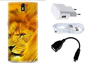 Spygen One Plus One Case Combo of Premium Quality Designer Printed 3D Lightweight Slim Matte Finish Hard Case Back Cover + Charger Adapter + High Speed Data Cable + Premium Quality OTG