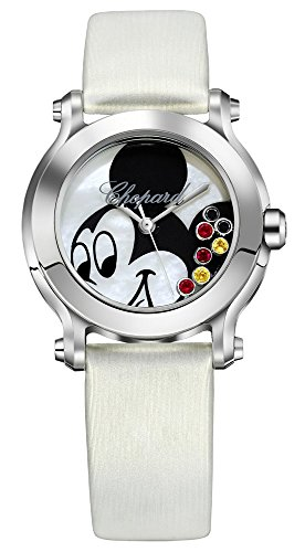 Special Edition Chopard Happy Sport II Mickey Stainless Steel Womens Luxury Watch 278475-3032