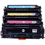 Premium Toner Set HP CF210A - CF213A für HP Laserjet PRO 200 Color MFP M276nw - BK, Cy, Ma, Ye -