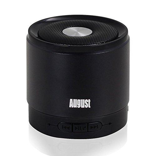 August-MS425-Mobiler-Bluetooth-v40-Lautsprecher-mit-Mikrofon-Schnurloser-Speaker-und-Freisprecheinrichtung-fr-Smartphones-und-Handys-schwarz