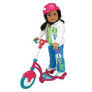 "18/"" American Girl Doll Red Helmet for Jess Scooter Bike"