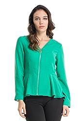 Kazo Women's Peplum Shirt (112765ULTRMRNM)