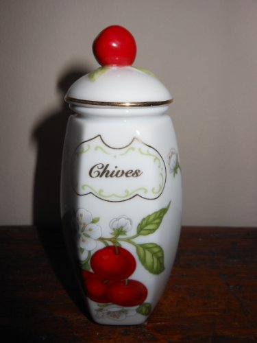 NEW Lenox 'Orchard Collection' Porcelain Spice Jar - Chives