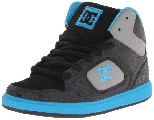 Dc Union High Se Leather Skate Shoe (Little Kid/Big Kid),Black/Turk Blue,12.5 M Us Little Kid front-977676