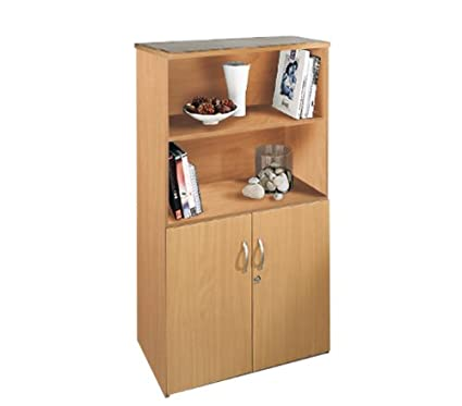 Open Top Self Colour Display Cupboard By Ready Office - Height: 1440 MM; Width: 800 MM; Depth: 470 MM - Color: Oak