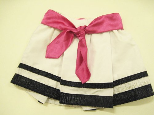 Calvin Klein Girls Skirt with Blue Bottom and Pink Sash CJE042