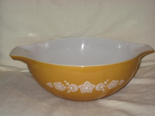 Vintage Pyrex Butterfly Gold 4 Qt Cinderella Mixing Bowl 404 (Vintage Pyrex Butterfly Gold compare prices)