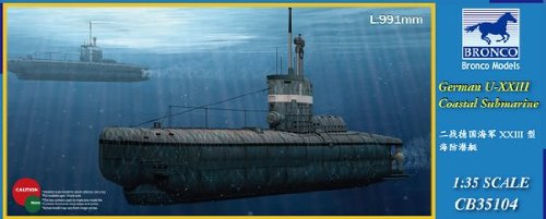 BNC35104 1:35 Bronco German U-XXIII Coastal Submarine MODEL KIT (1 35 Submarine compare prices)