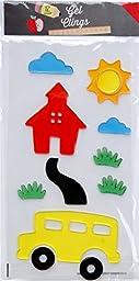 School House Themed Gel Window Clings - 12 Piece