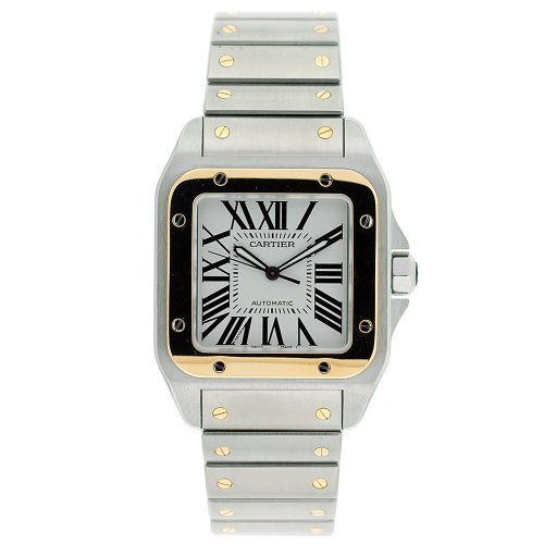 Cartier Men's W200728G Santos 100 Automatic Two-Tone Watch