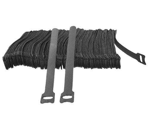 micro-trader-100-x-black-adjustable-strap-reusable-ties-tidy-wrap-hook-loop