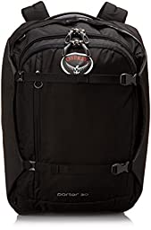 Osprey Porter Travel Duffel Bag, Black, 30-Liter