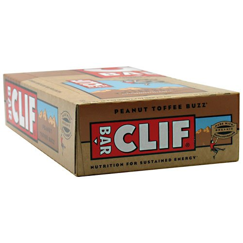 Clifbar Clif Bars - 12 Pack Peanut Toffee Buzz W/Caffeine, One Size