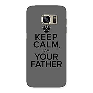 Stylish Grey Calm Father Back Case Cover for Galaxy S7