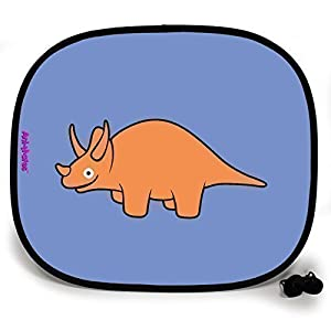 123t ANI-MATES DINO TRICERATOPS PLAIN Baby/Child Vehicle Sunshade x 1