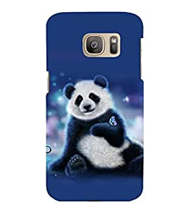 printtech Panda Butterfly Back Case Cover for Samsung Galaxy S7 :: Samsung Galaxy S7 Duos with dual-SIM card slots