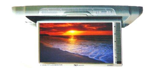 Xo Vision Gx9937 Semi-Motorized 9 Inch Wide Screen Overhead Flip Down Ceiling Mount Car Tft Lcd Monitor