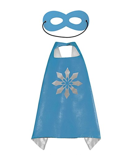 Princess Frozen Elsa & Anna Blue CAPE AND MASK SET *Ships from US*Halloween costume