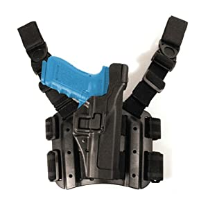 BLACKHAWK! Serpa Level 3 Tactical Black Holster, Size 06, Right Hand(Sig 220/225/226/228/229 w/ or w/o rail)