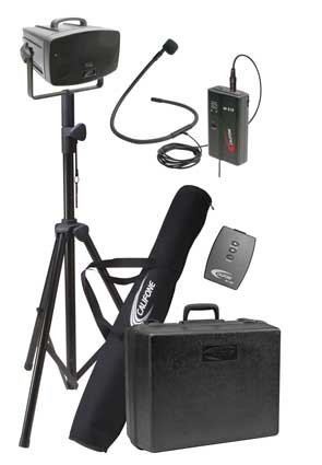 "Califone Pa319Pc Portable Hands-Free Wireless Presentationpro Package, 30W Rms Wireless Presentationpro Is Powerful Enough For Groups Up To 500 People With (Un)Balanced Xlr / 1/4"" Mic And Aux Inputs, Volume And Tone Controls, 16-Channel Uhf Beltpack Trans"