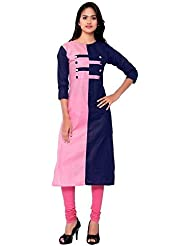 Nirja Trendy Navy And Pink Color Stylish Designer Kurti