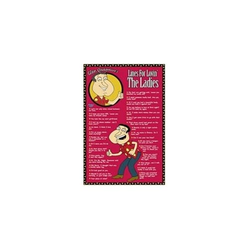 Family Guy Lines for Lovin' Quagmire Quotes TV Poster 24 x 36 inches