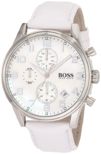 Hugo Boss 1502225 Watch HB5005 Ladies - White MOP Dial Stainless Steel Case Quartz Movement