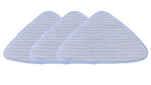 Waschmittel Holme Dampfbesen Ersatz-Pads, 3 Stück, weiß