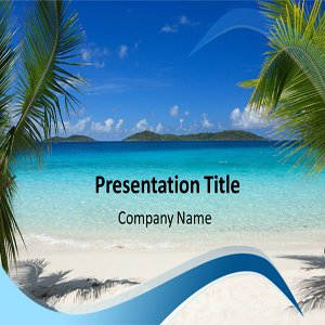 Beach Powerpoint Templates - Powerpoint Template on Summer Vacation - Beach PPT Templates