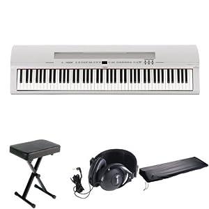 Yamaha digital piano white car interior design for Yamaha p85 contemporary digital piano