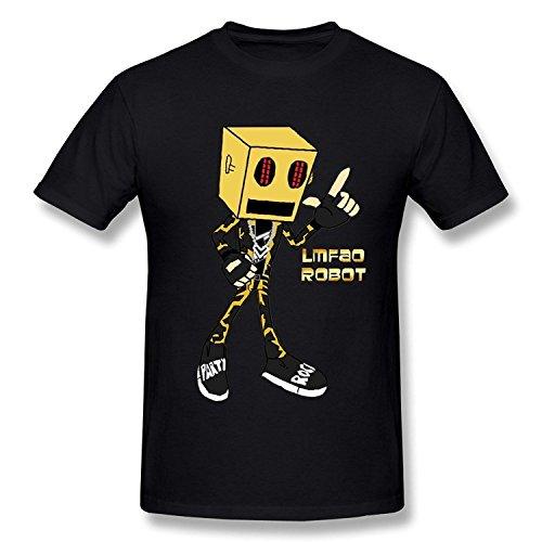 WunoD Men's Lmfao Robot T-shirt Size XL (Lmfao Robot compare prices)