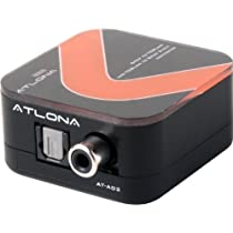 Atlona Digital Coaxial to Optical Toslink & Optical Toslink to Digital Coaxial 2 Way Audio Converter
