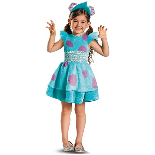 [GSG Sulley Girl Deluxe Costume Baby Monsters Inc. Monsters Inc Halloween] (Girls Deluxe Catwoman Costume)