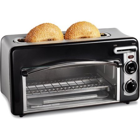 Hamilton Beach Toastation 2-in-1 2-Slice Toaster & Oven, black color /, Model:22703 (Two In One Toaster Ovens compare prices)