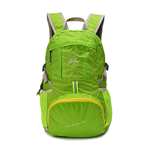TOFINE Portable Backpack Large Hiking Travel Light Weight Foldable Waterproof Backpack Camping Gear 35L for Adult Men and Women Navy