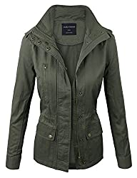 makeitmint Women's Zip Up Military An…