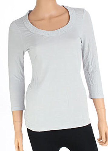 banana-republic-womens-light-grey-missy-knit-top-xs-s-m-l-small