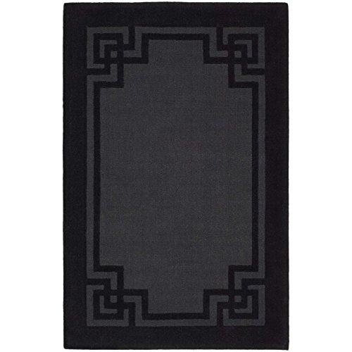 Safavieh MSR4614B Martha Stewart Collection Deco Frame Wool Area Rug, 8-Feet by 10-Feet, Phantom