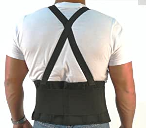 Back Support Belt with Suspenders - Taper Front - 2X
