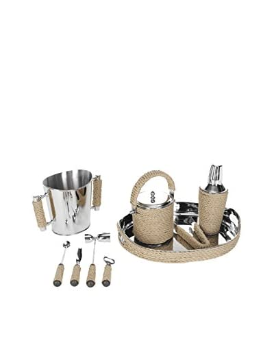 Safavieh Brass And Rope Bartender Set, Brass/Rope
