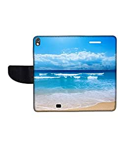 KolorEdge Printed Flip Cover For Gionee Elife S5.1 Multicolor - (50KeMLogo09240GioneeS5.1)