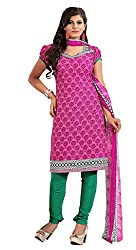Nilkanth Enterprise Pink Dress Material