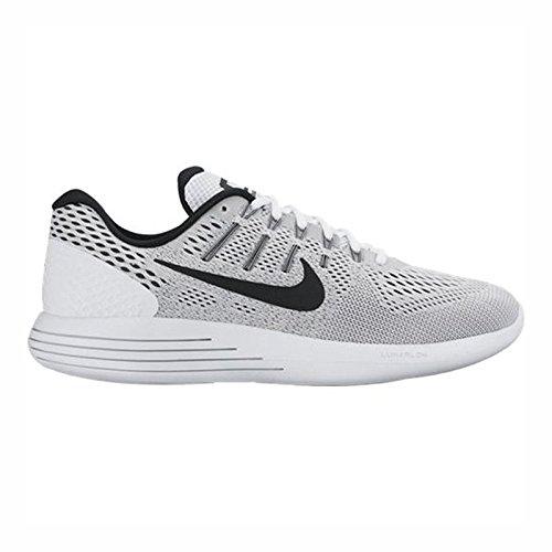 Nike Men's Lunarglide 8 Running Shoe White/Black/Wolf Grey 10.5