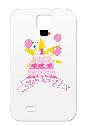 1 Year Old Birthday Cake White One Bash Number Birthdays Happy Birthday Year Old Age No First Occasion Holidays Occasions Party Birthday Gift 1St Cake Celebration Ol For Sumsang Galaxy S4 Protective Hard Case front-690695