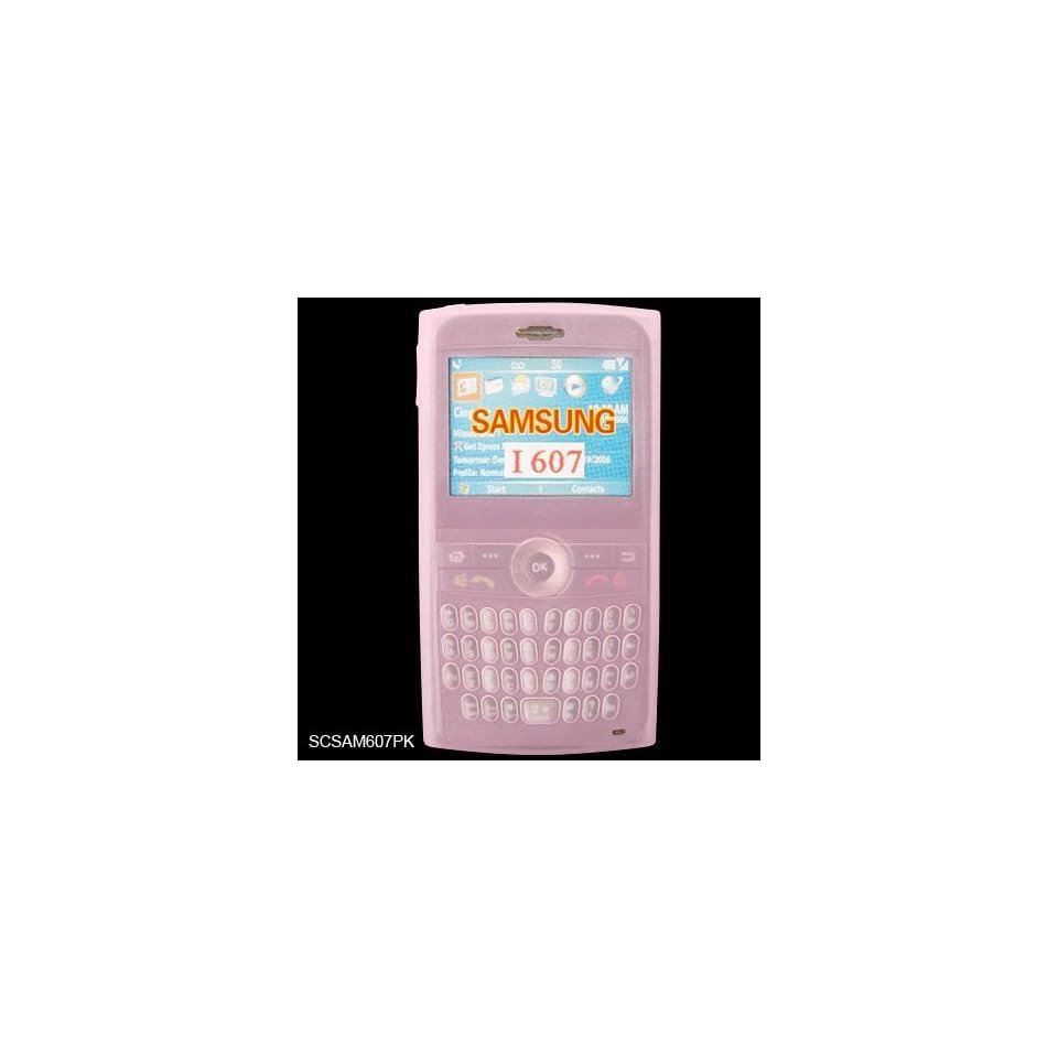 Samsung Blackjack SGH i607 Premium PDA Pink Silicone Skin Case Cover